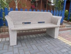 Polished Bench with Back