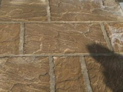 Yorkstone Paving in a Buff Colour 3 size mix