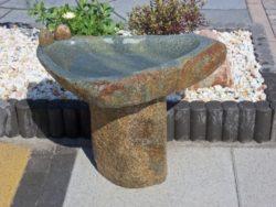 Basalt Birdbath Small