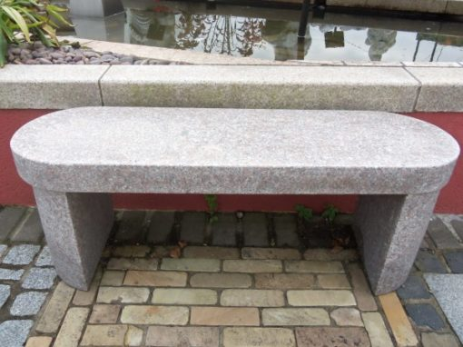 OVAL PINK GRANITE BENCH