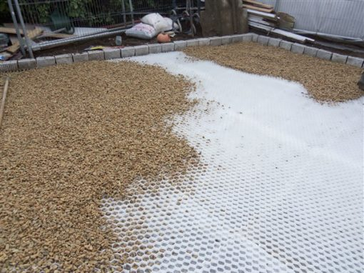 Gravel Mat Project In Process