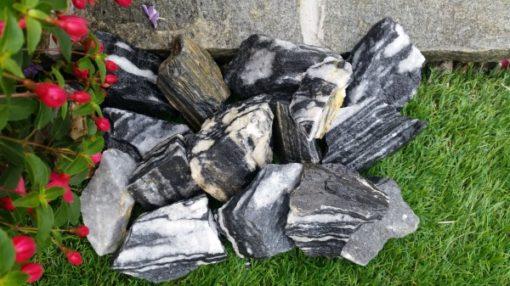 Black and White Striped Mini Rock