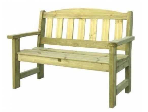 2 Seater Wooden Garden Bench | MVStone.ie