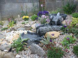 Rockery Flower Bed With Granite Stream