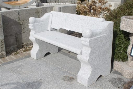 SILVER GREY GRANITE THRONE