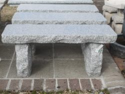 NATURAL STRAIGHT SILVER GREY GRANITE BENCH