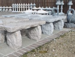 NATURAL STRAIGHT GRANITE BENCHES