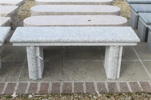 BC07 SILVER GREY GRANITE BENCH