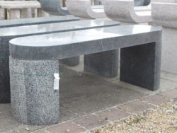 OVAL BENCH DARK GREY