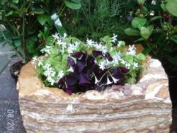 Multi Coloured Strip Rock Planter