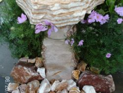 Natural Stone Birdbath (Angel 77)