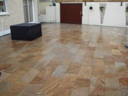 Burnt Barley Granite Paving