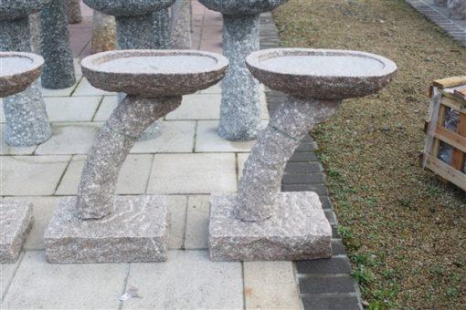 Granite arch birdbath