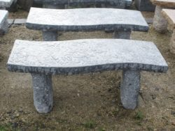 Dark Grey Granite S Shape Bench