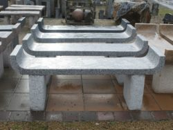 SILVER GREY GRANITE CHAISE BENCH