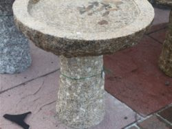 SMALL NATURAL BIRDBATH BEIGE