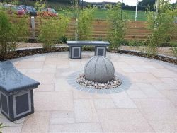 BURNT BARLEY GRANITE PAVING 3 SIZE MIX PROJECT