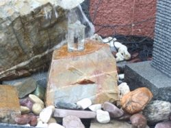 NATURAL ROCK WITH GLASS INSERT