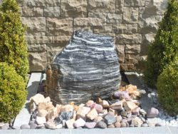 ZEBRA ROCK WATER FEATURE